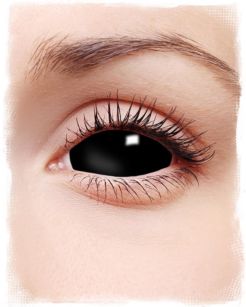 3985b281344 Sclera contact lenses black Demonic-looking sclera lenses