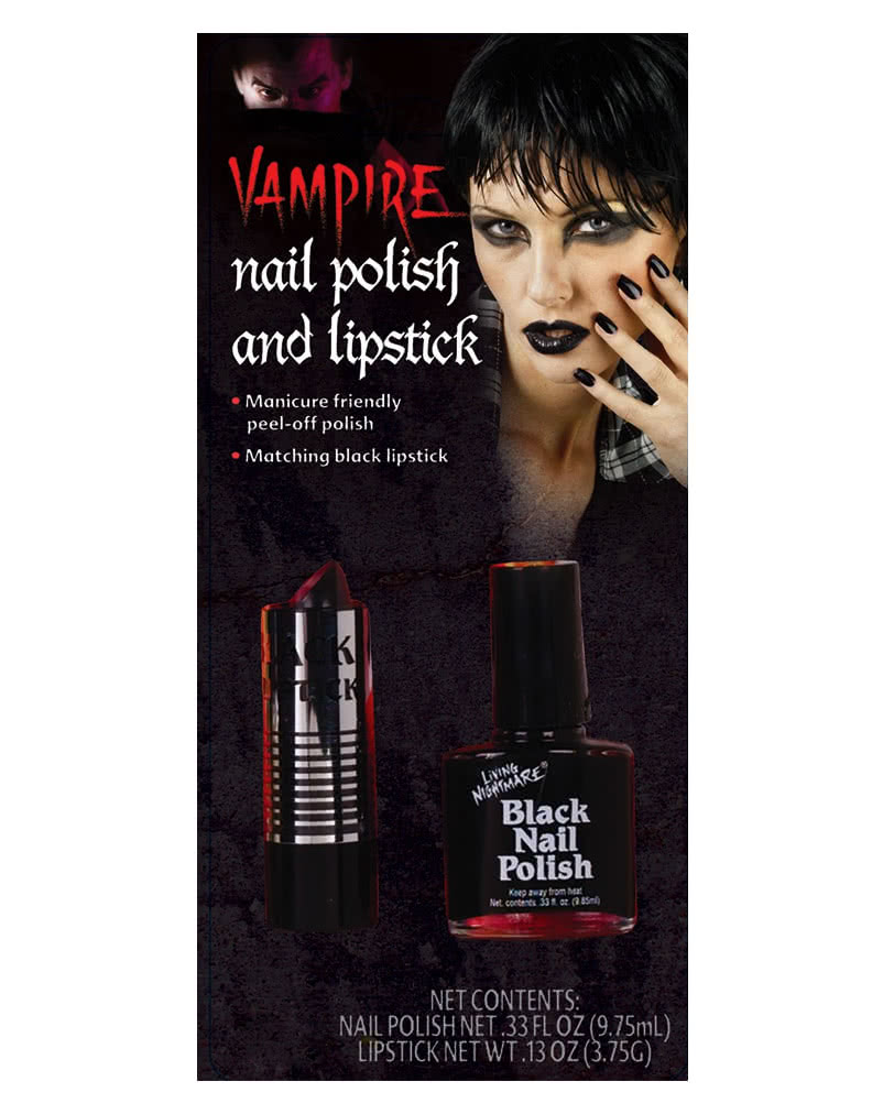 Black nail polish and lipstick | Mystical Gothic look for Halloween ...