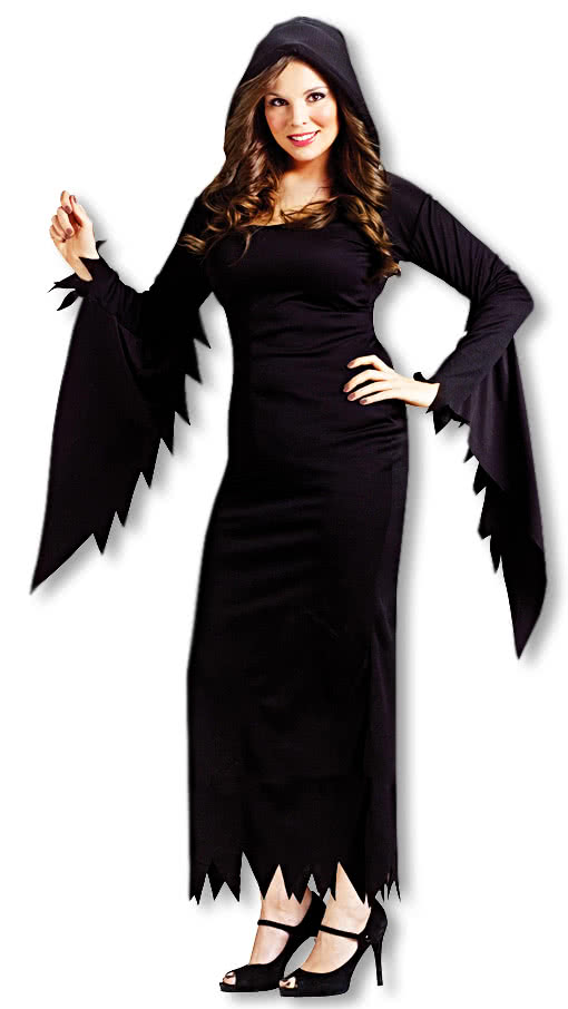 Halloween kostum schwarzes kleid