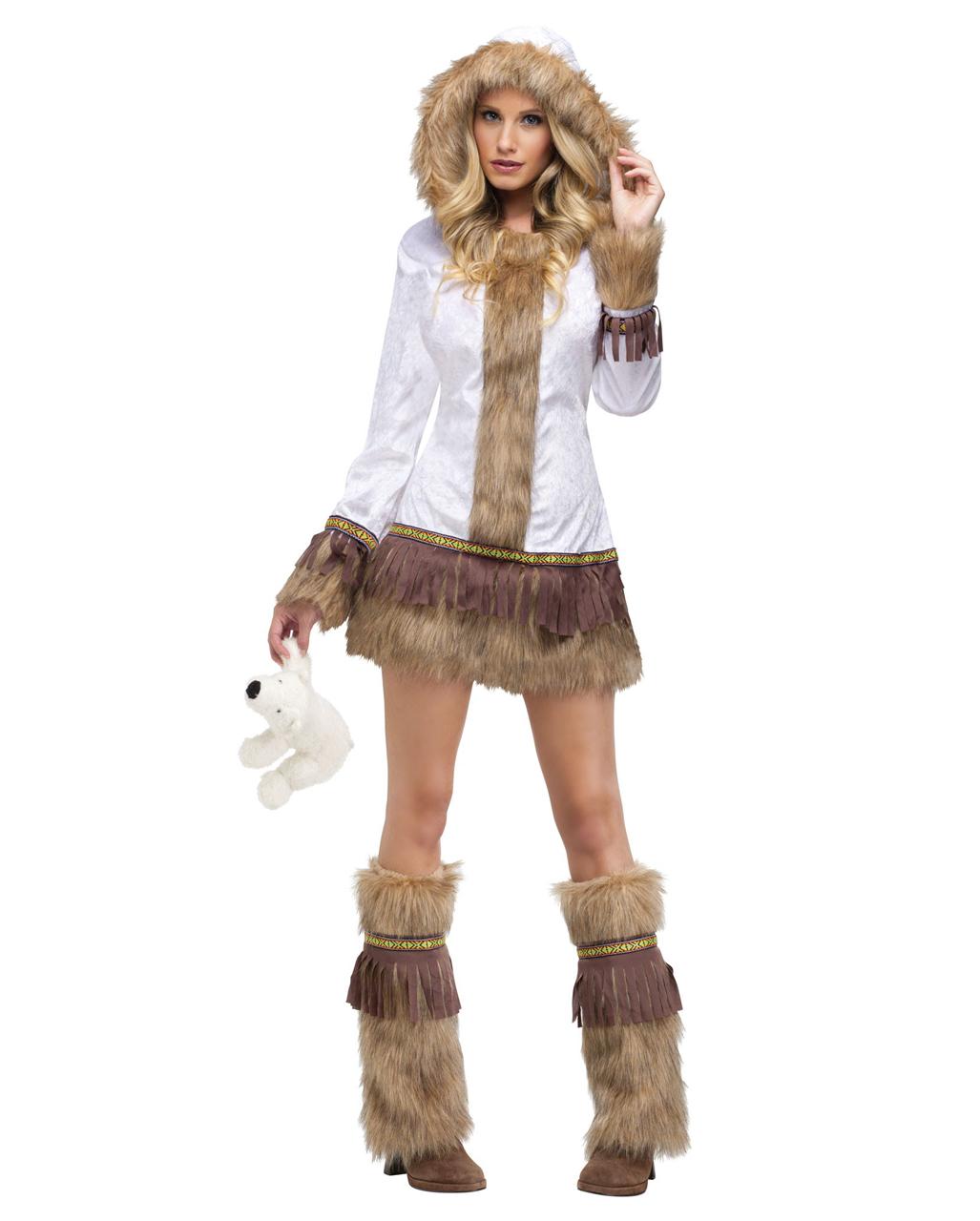 Sexy Eskimo Lady Kostum Fur Fasching Horror Shop Com