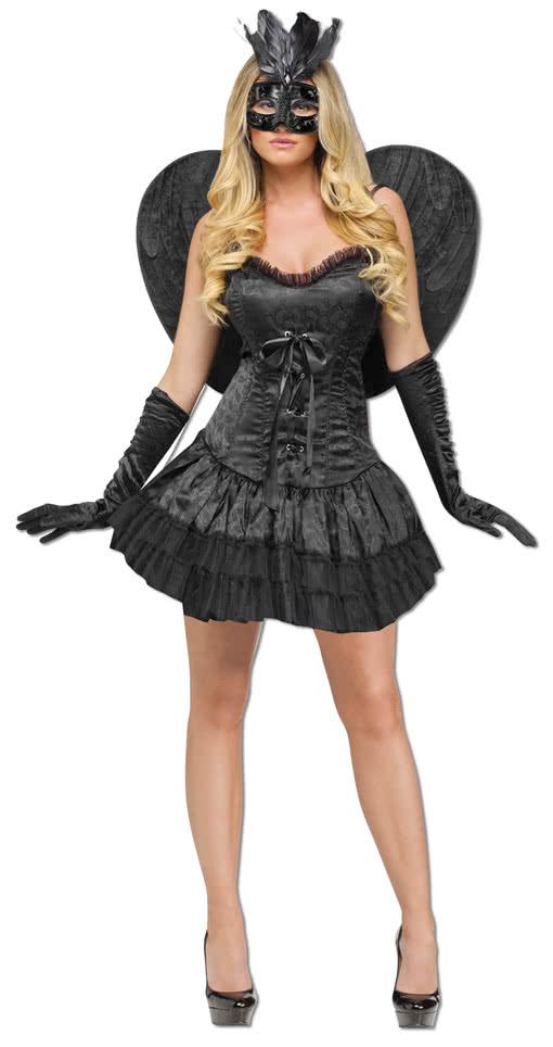 Sexy dunkle Engel Halloween Kostüm