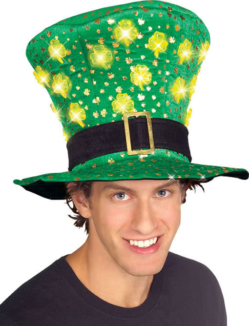 St. Patrick`s Day Hut mit LEDs | Kostümzubehör | Horror-Shop.com