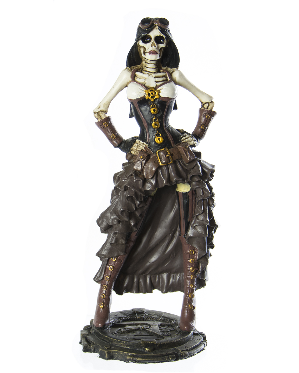 steampunk lady figure as a table decoration