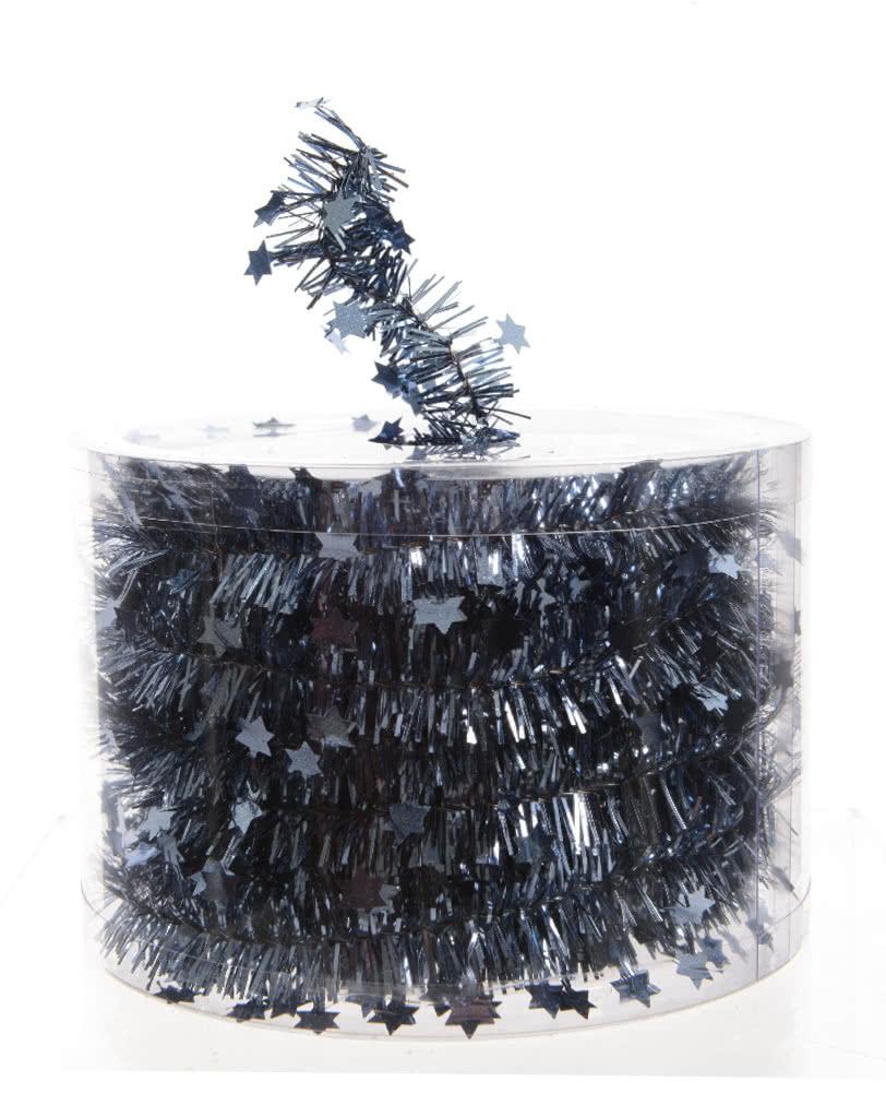 Eisblaue Christbaumkugeln.Sterngirlande Eisblau