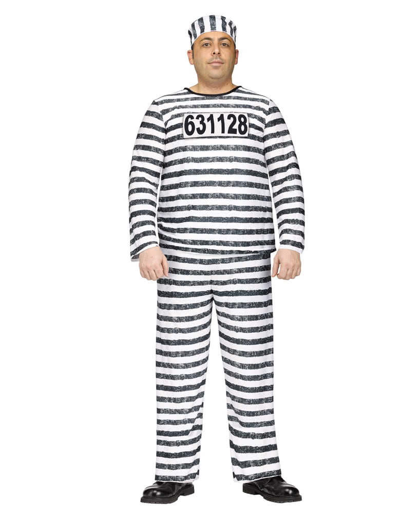 Convict Costume Jailbird XL ...  sc 1 st  Horror-Shop & Convict Costume Jailbird XL for Halloween | horror-shop.com