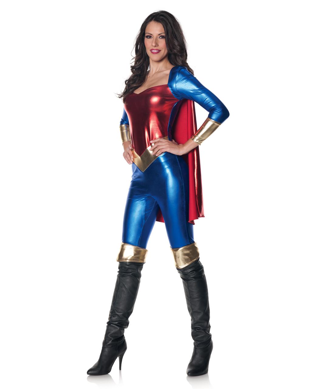 Superheldin Jumpsuit Superhelden Kostum Horror Shop Com