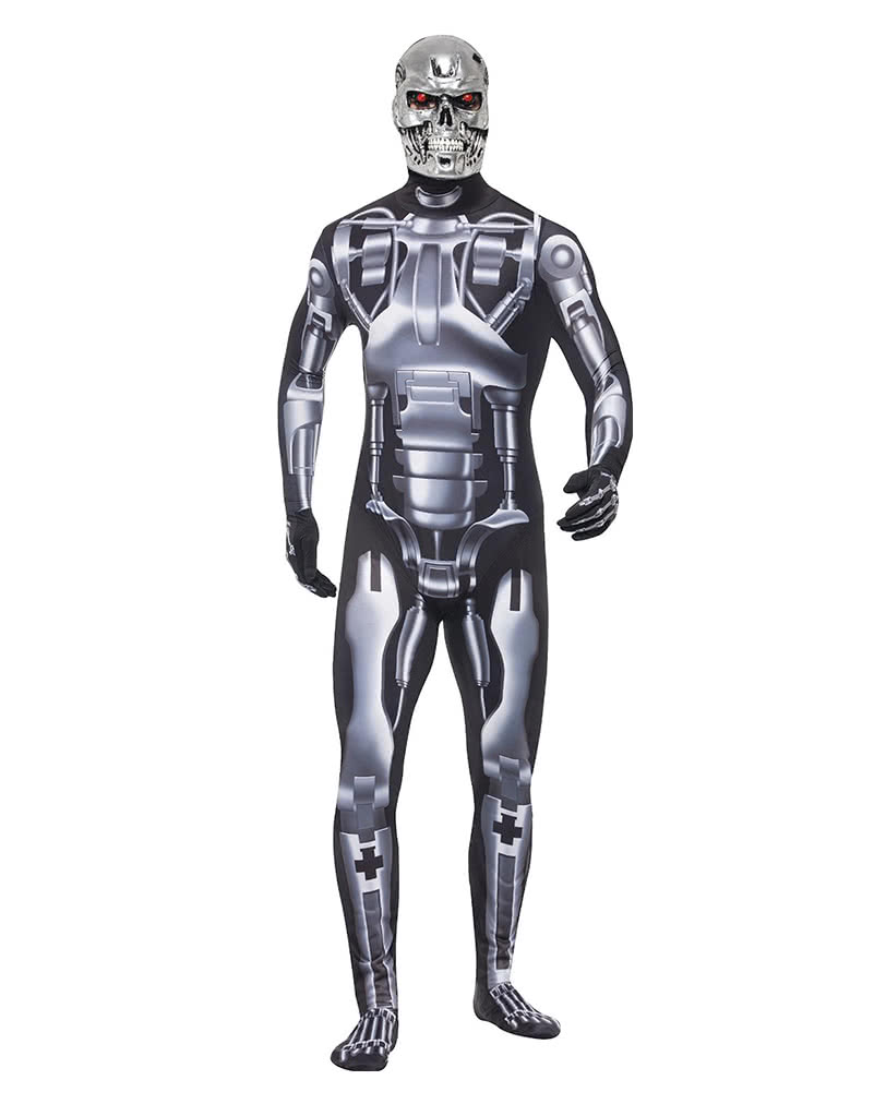 Terminator endoskeleton Men Costume ...  sc 1 st  Horror-Shop.com & Terminator endoskeleton Men Costume | Robot costume with skull mask ...