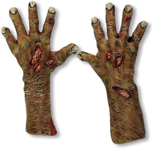 Untote Zombie Hände | Gruselige Halloween Handschuhe | Horror-Shop.com