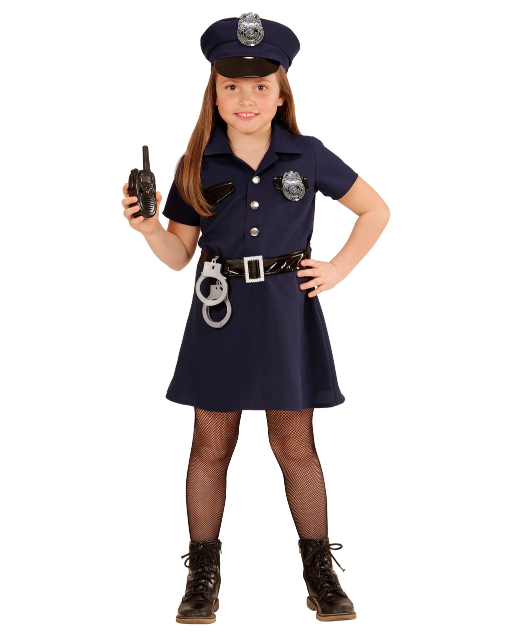 US Policewoman Kids Costume ...  sc 1 st  Horror-Shop.com & US Policewoman Kids Costume for girls | horror-shop.com