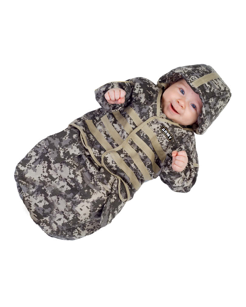 sc 1 st  Horror-Shop.com & USArmy Baby Tarn sleeping bag as baby costume | horror-shop.com