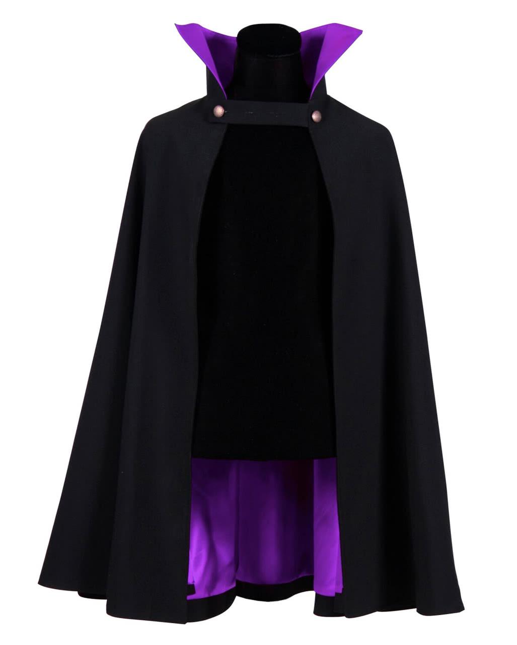 Vampire Cape Deluxe black-purple  0c76471010af6
