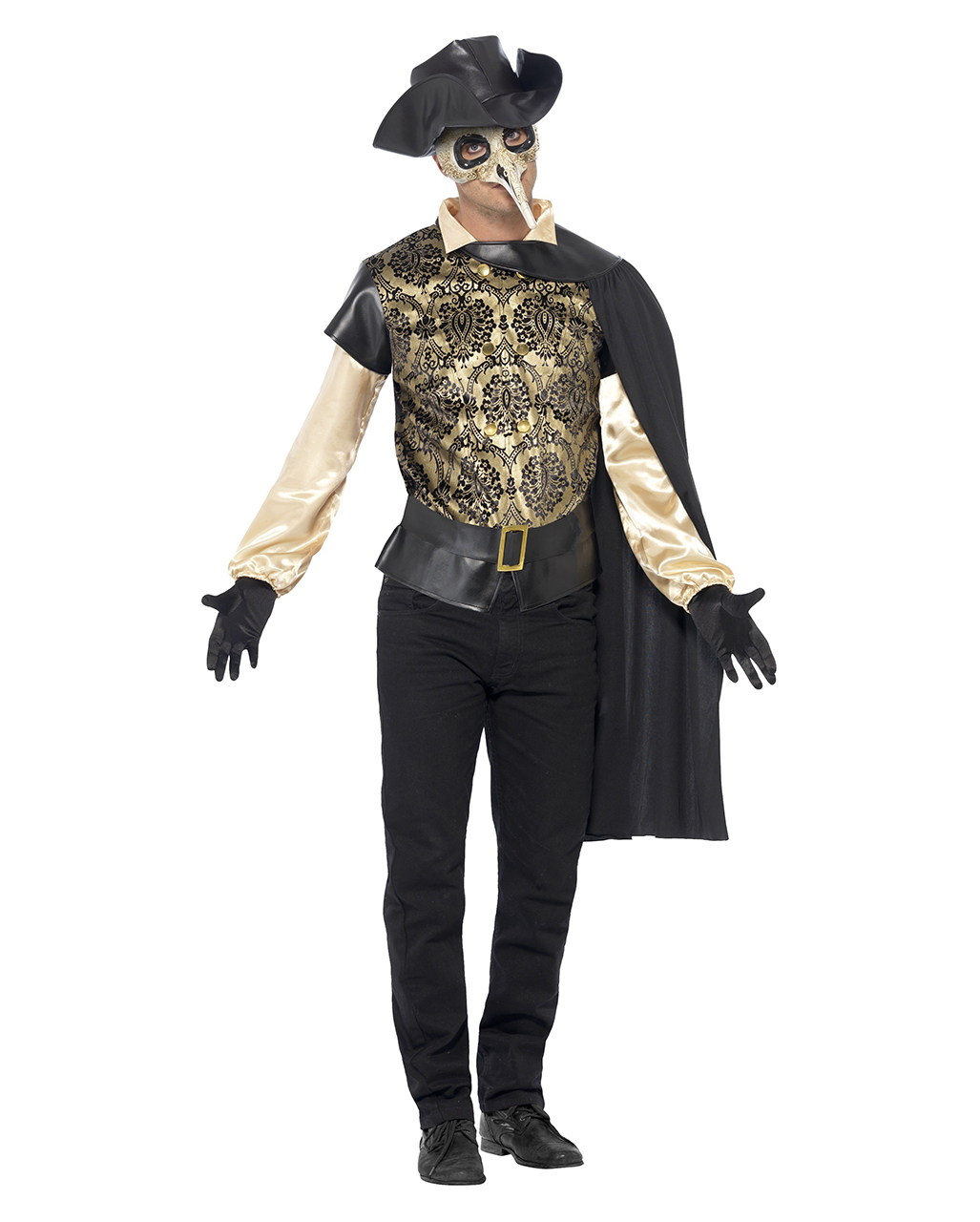 Venetian Plague Doctor Costume ...  sc 1 st  Horror-Shop.com & Venetian Plague Doctor Costume | Venice Doctor costume for men ...
