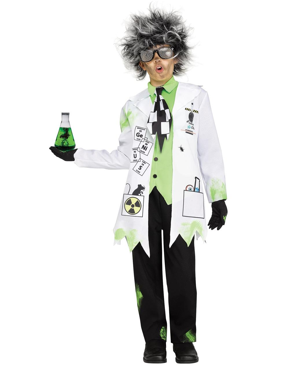 add11063e Crazy professor kids costume for Halloween | horror-shop.com