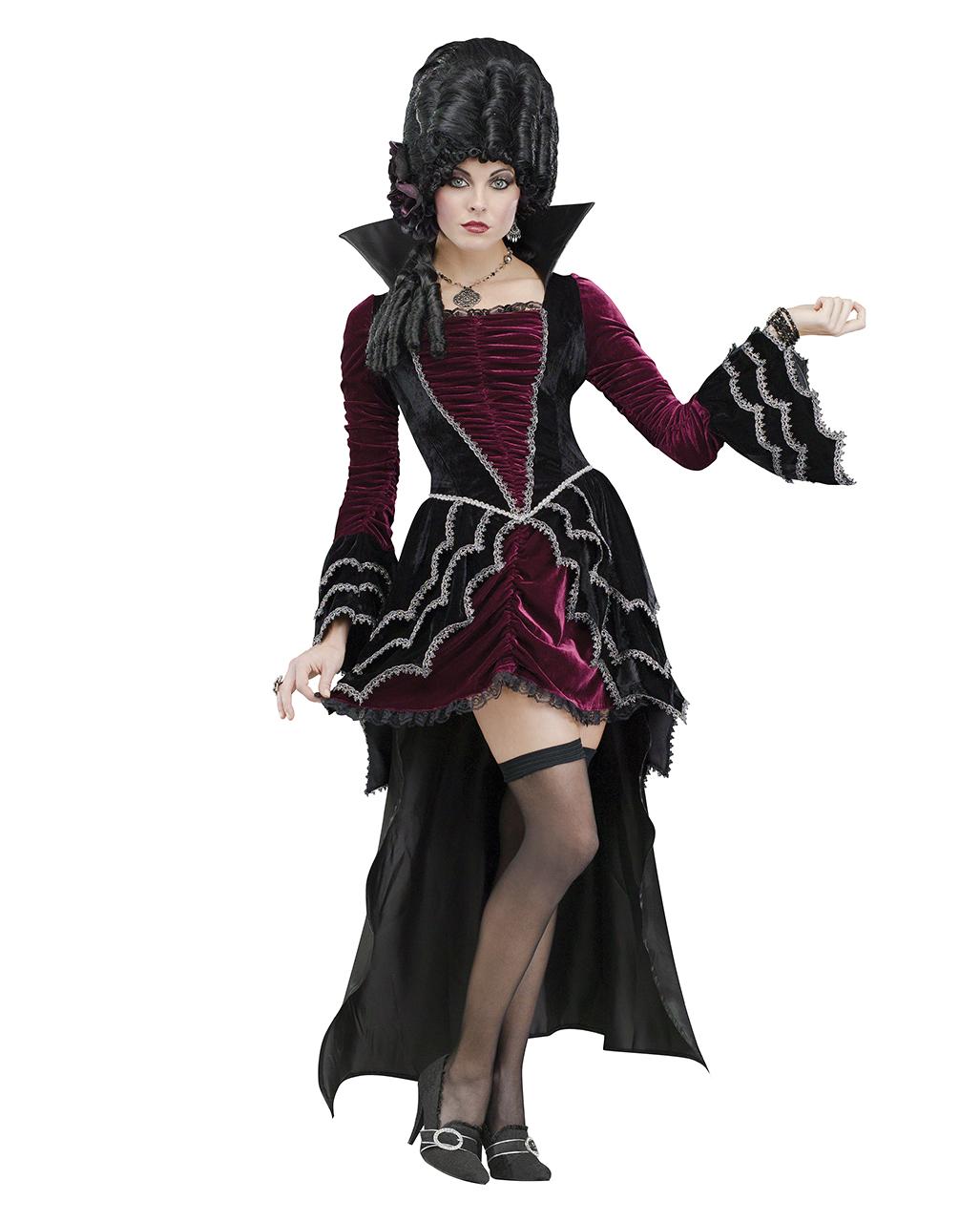 Victorian Vampiress Deluxe Costume | Deluxe vampire evening gown ...