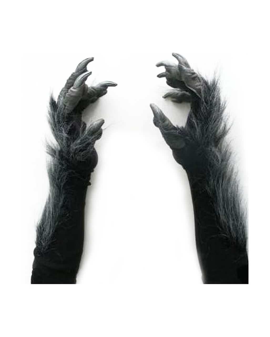 sc 1 st  Horror-Shop.com & Werewolf Gloves Deluxe Black Costume Accessories | horror-shop.com
