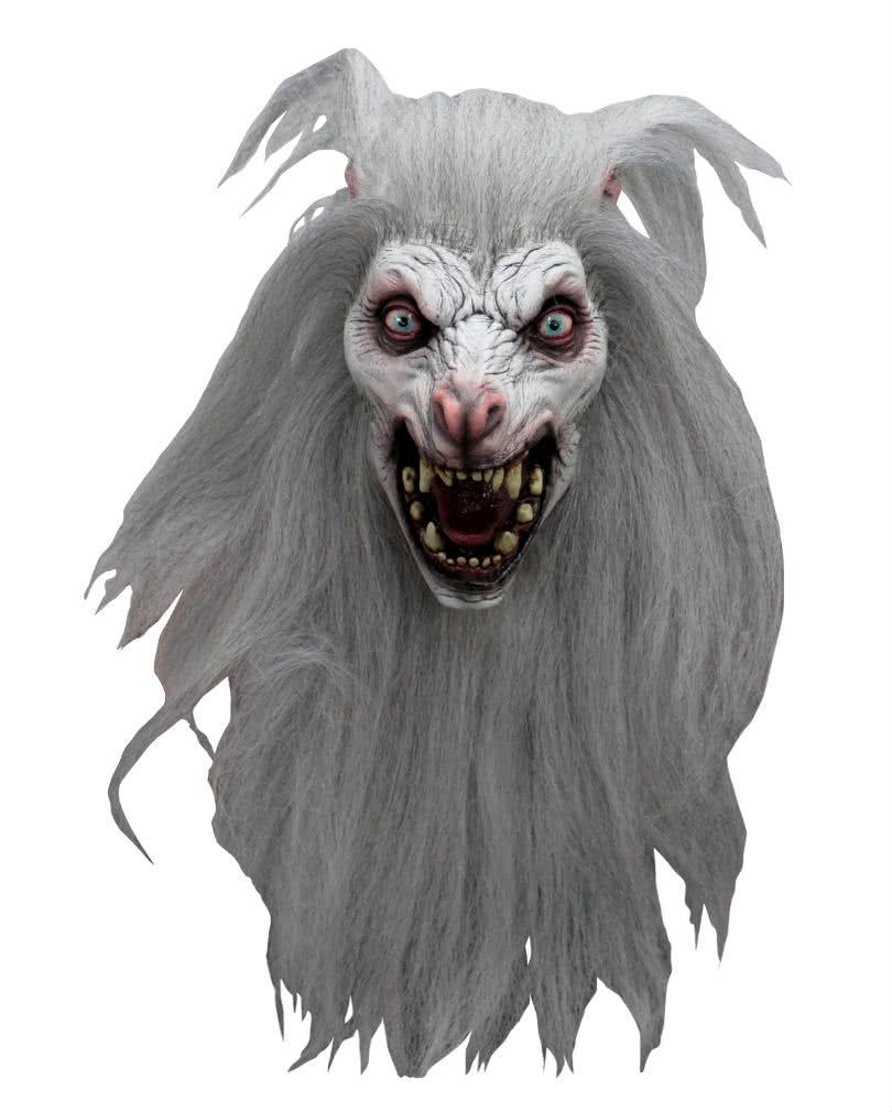 White Moon Werewolf Mask | Halloween wolf mask | horror-shop.com