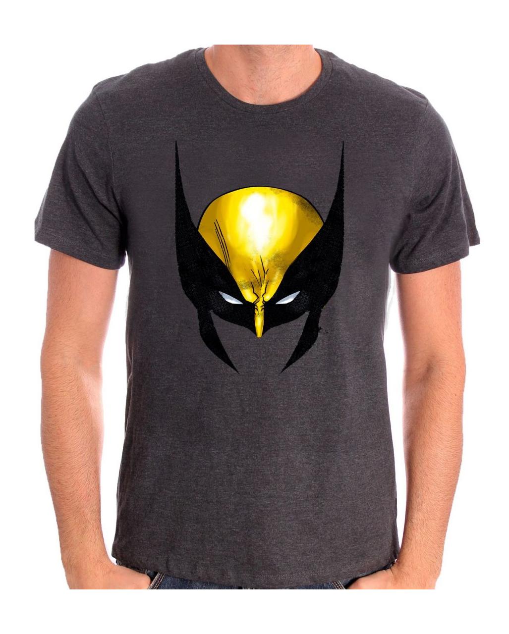 b5678f6a7 Wolverine Mask Motif T-Shirt for superheroes | horror-shop.com
