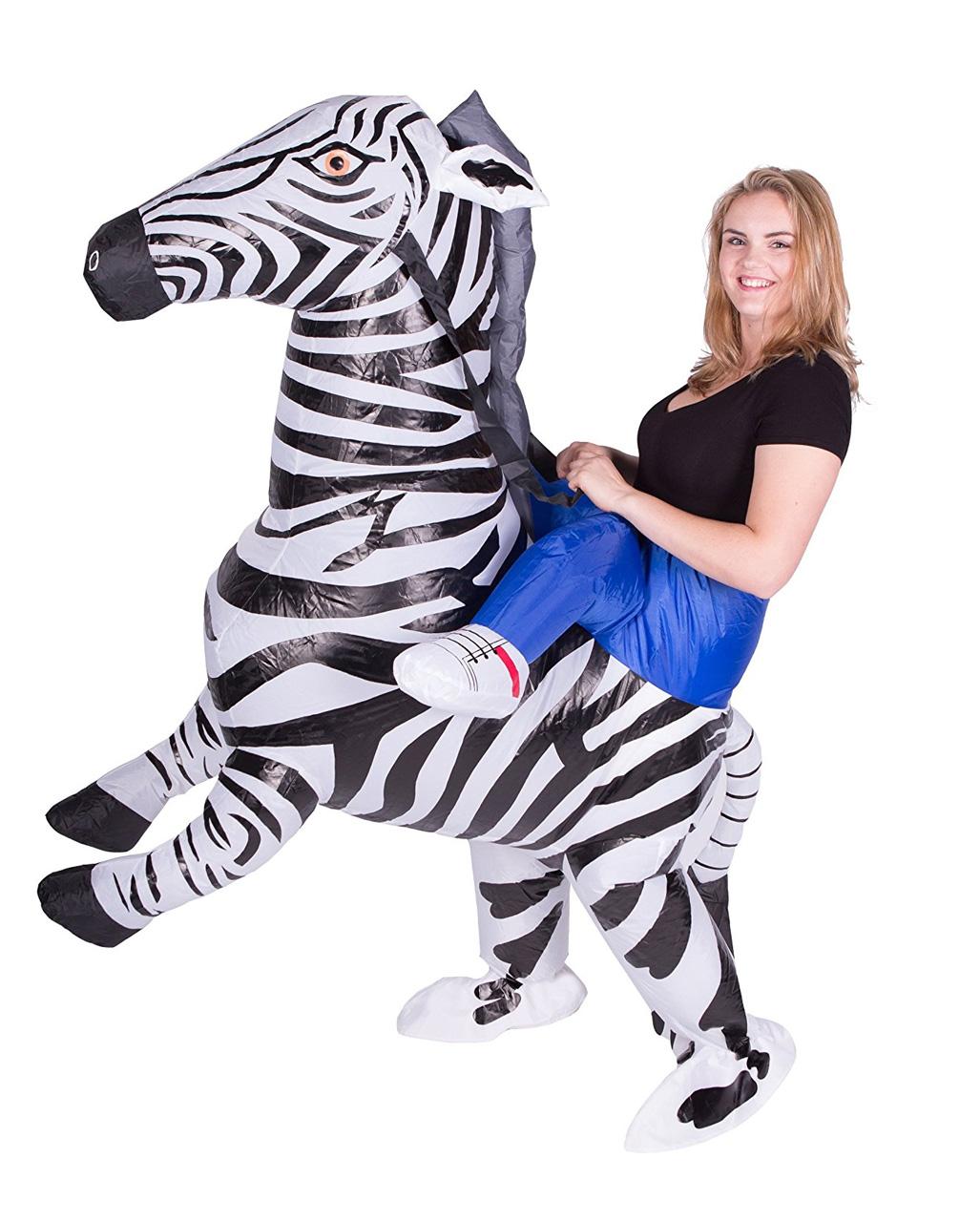 Zebra Aufblas Kostum Fur Fasching Horror Shop Com