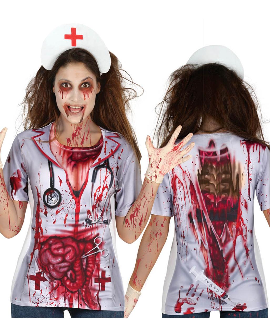 Zombie Nurse T Shirt Fur Halloween Jetzt Bestellen Horror Shop Com