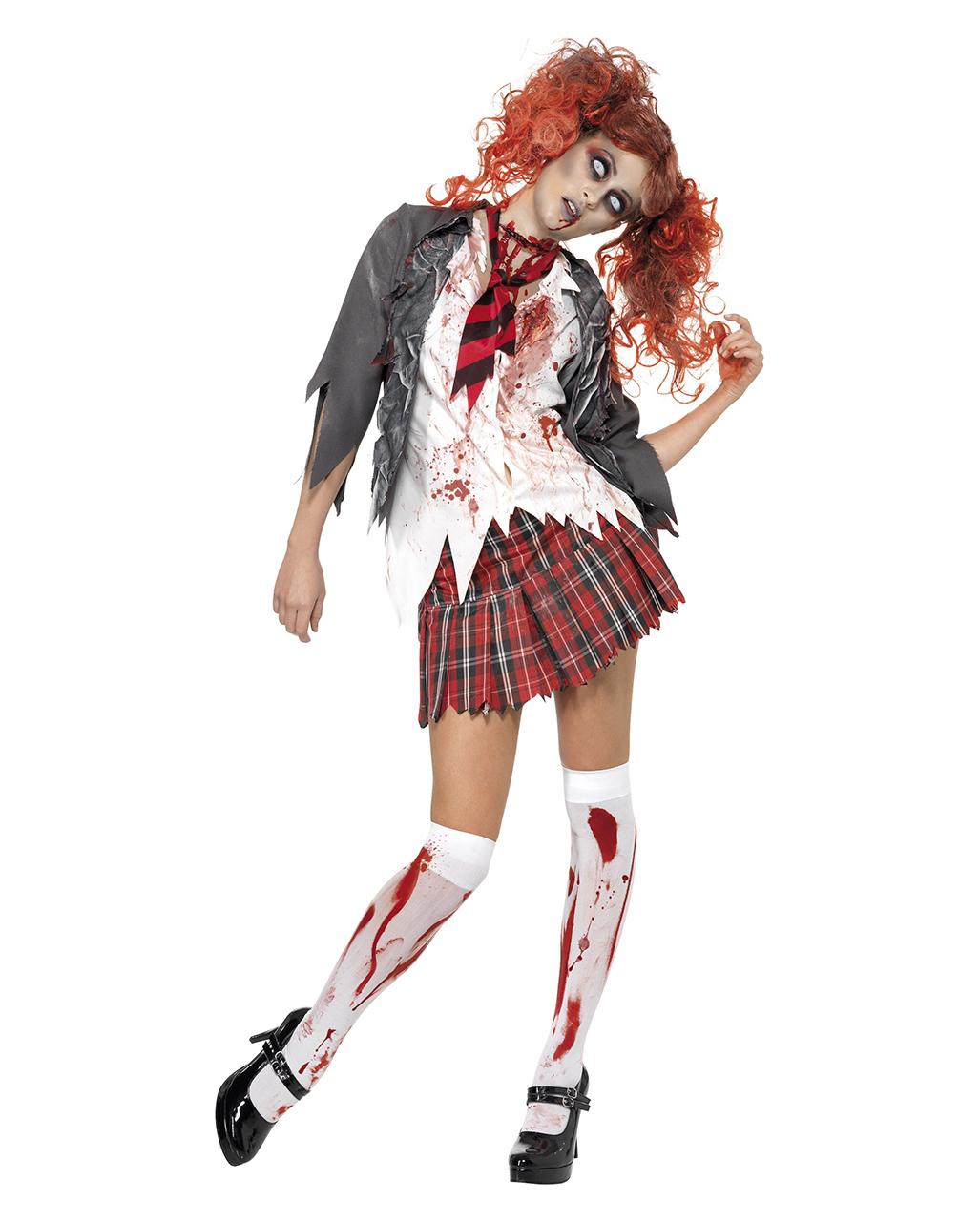 Zombie Schulmädchen Kostüm Zombie Schoolgirl Kostüm Für Halloween