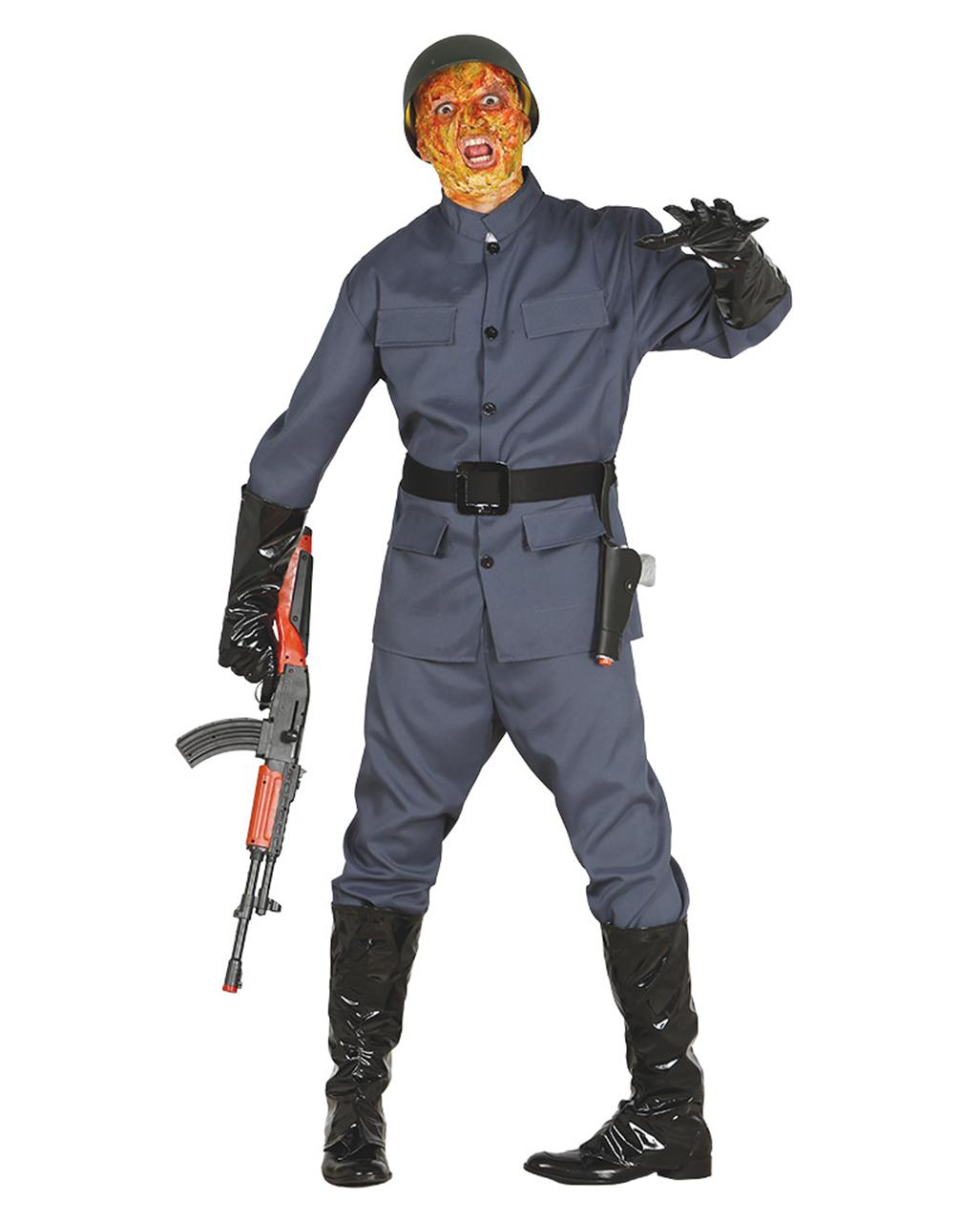 Zombie Soldier Mens Costume