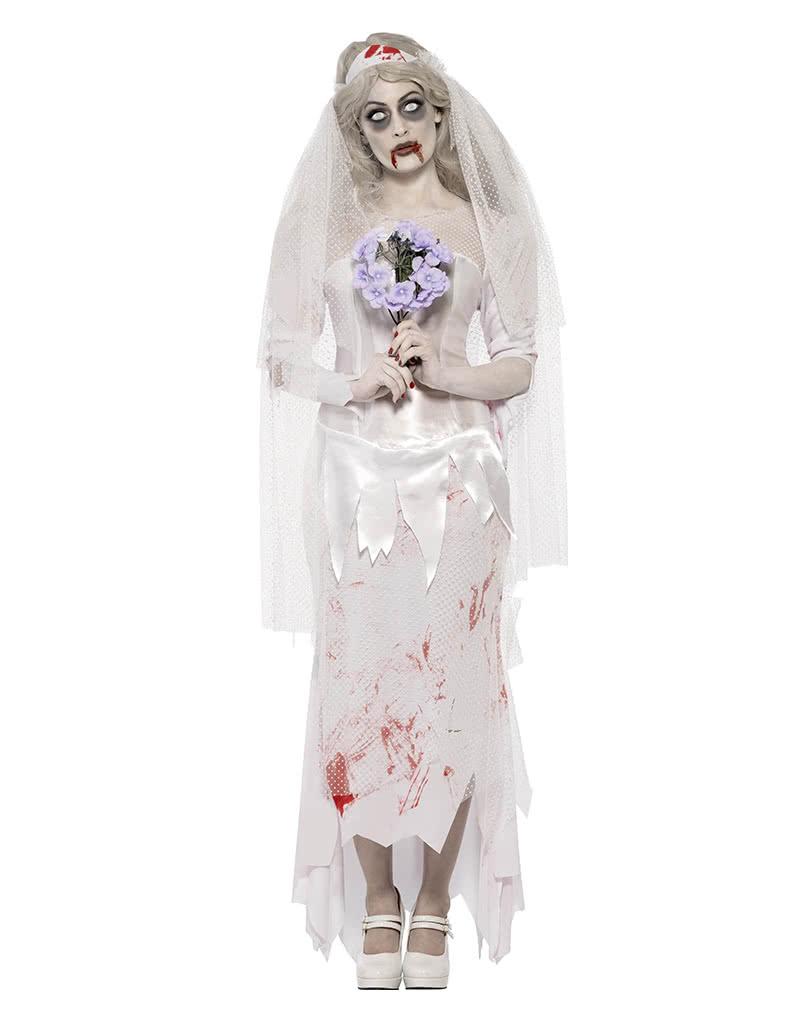 zombie bride costume | blood smeared wedding dress | horror-shop