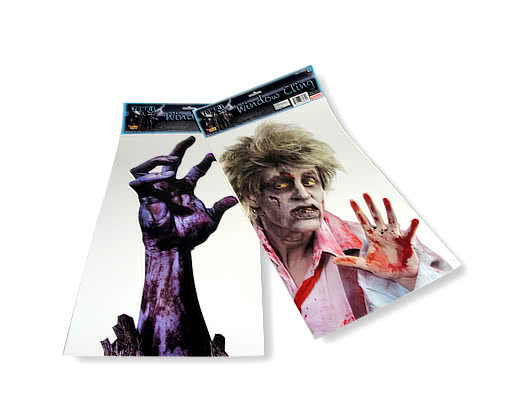 Zombie Window Cling -Zombie Window Decor-Halloween Window Decoration ...