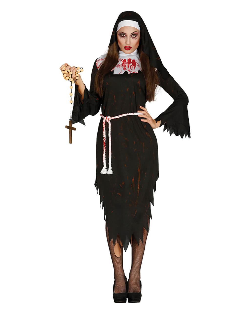 zombie nonnen kostüm halloween kostüm | horror-shop