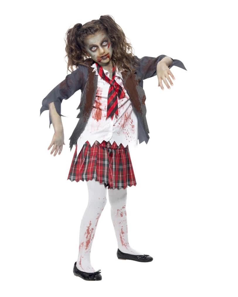 Zombie Schulmadchen Kostum Fur Halloween Fasching Horror Shop Com