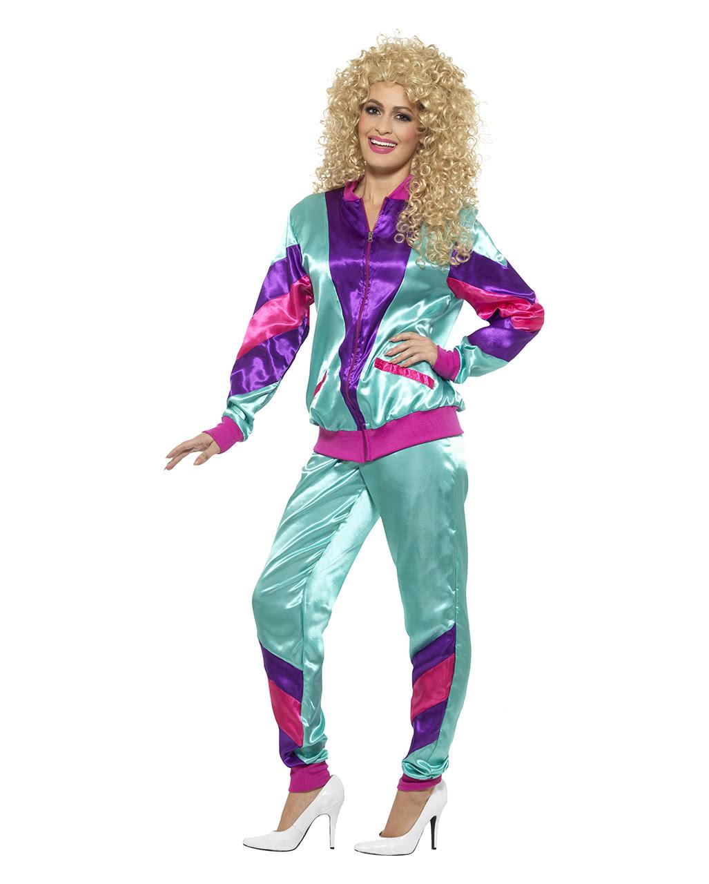 80s Jogging Suit Costume | Bad button | horror-shop.com