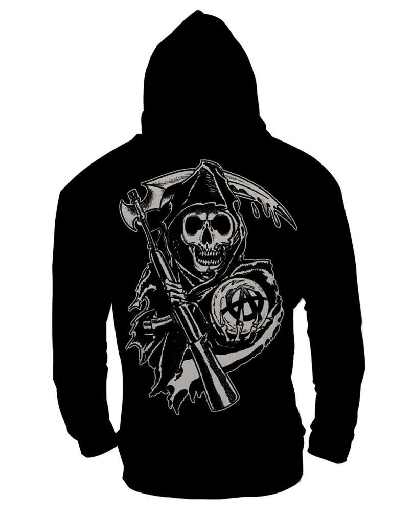 Geliebte Sons of Anarchy Reaper Hoodie for fans of Biker TV series | horror #HD_98