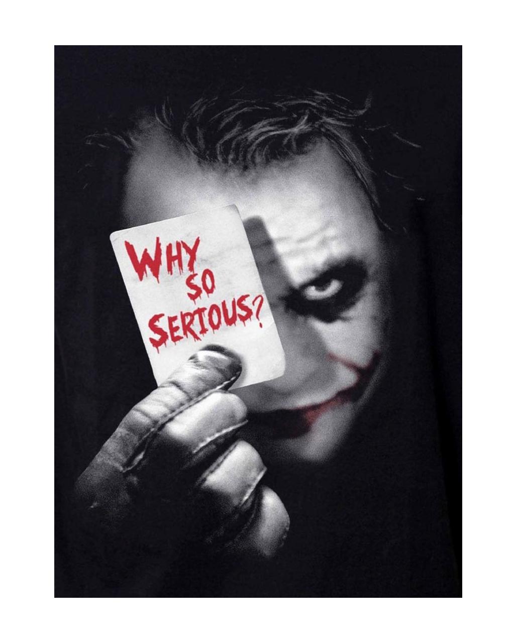 The Dark Knight Joker T Shirt Why So Serious