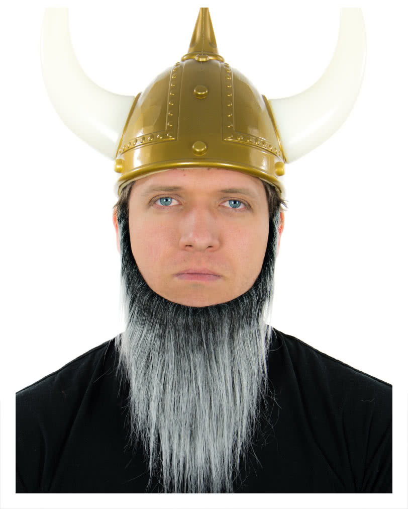 viking beard black and gray heather | dwarves and barbarians beard