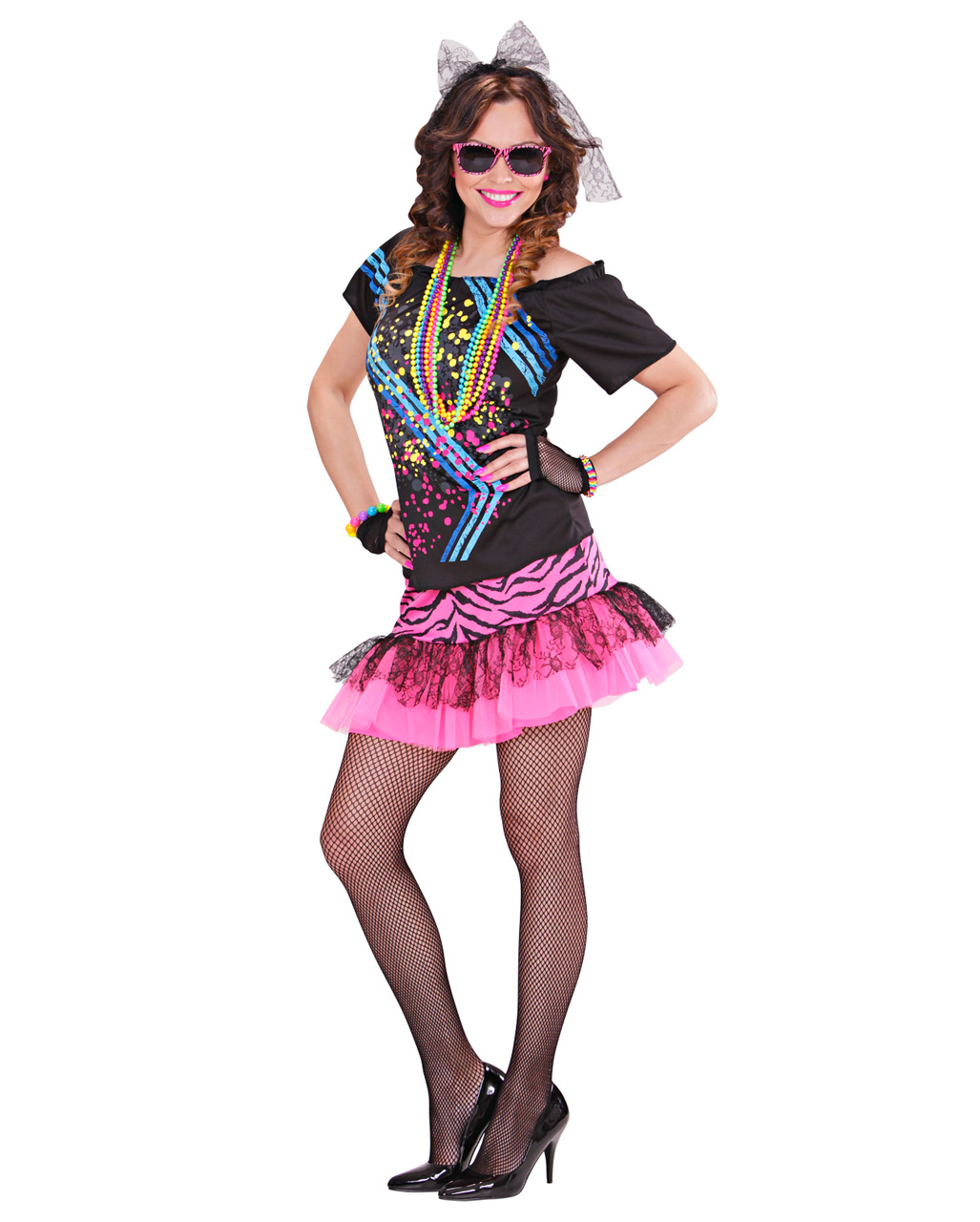 80 s Material Girl Ladies Costume for carnival  699d1fc804d8