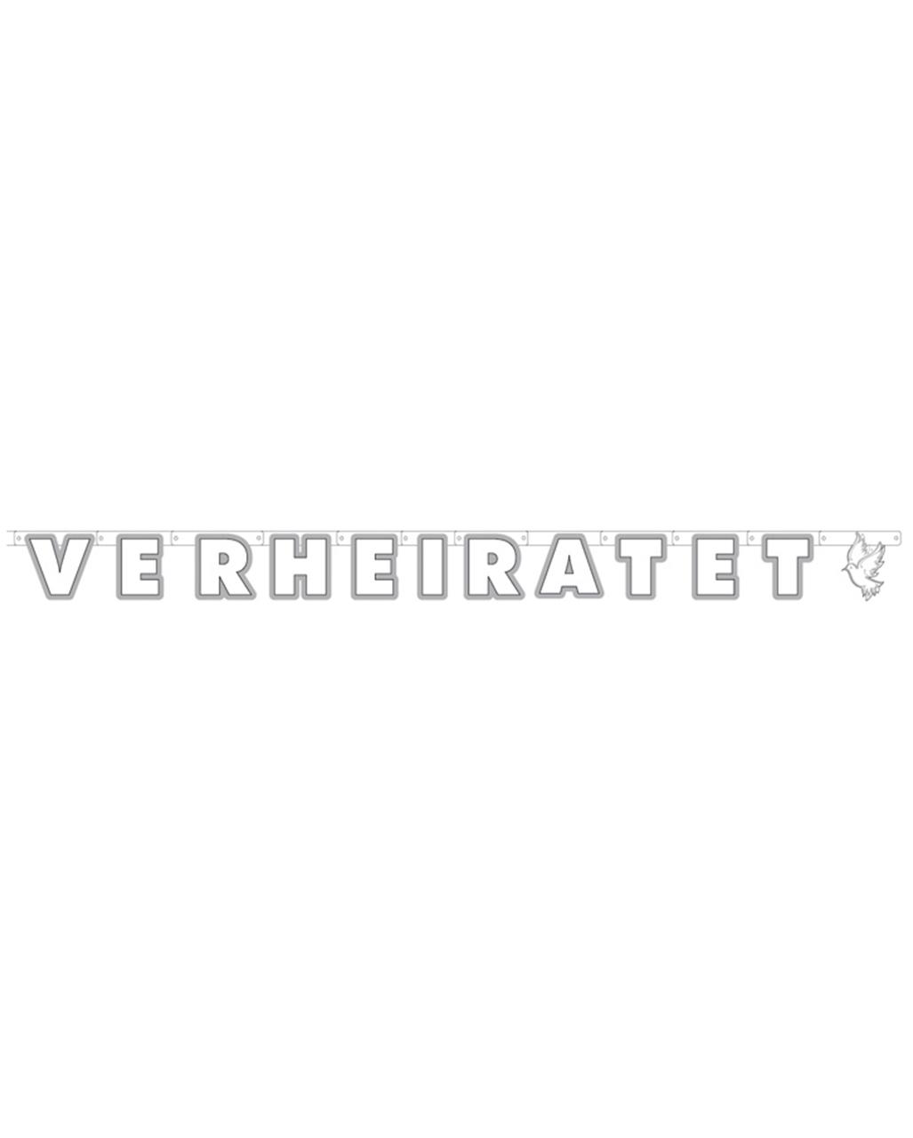 Grußkette Frisch Verheiratet Hochzeits Dekoration | Horror-Shop.com
