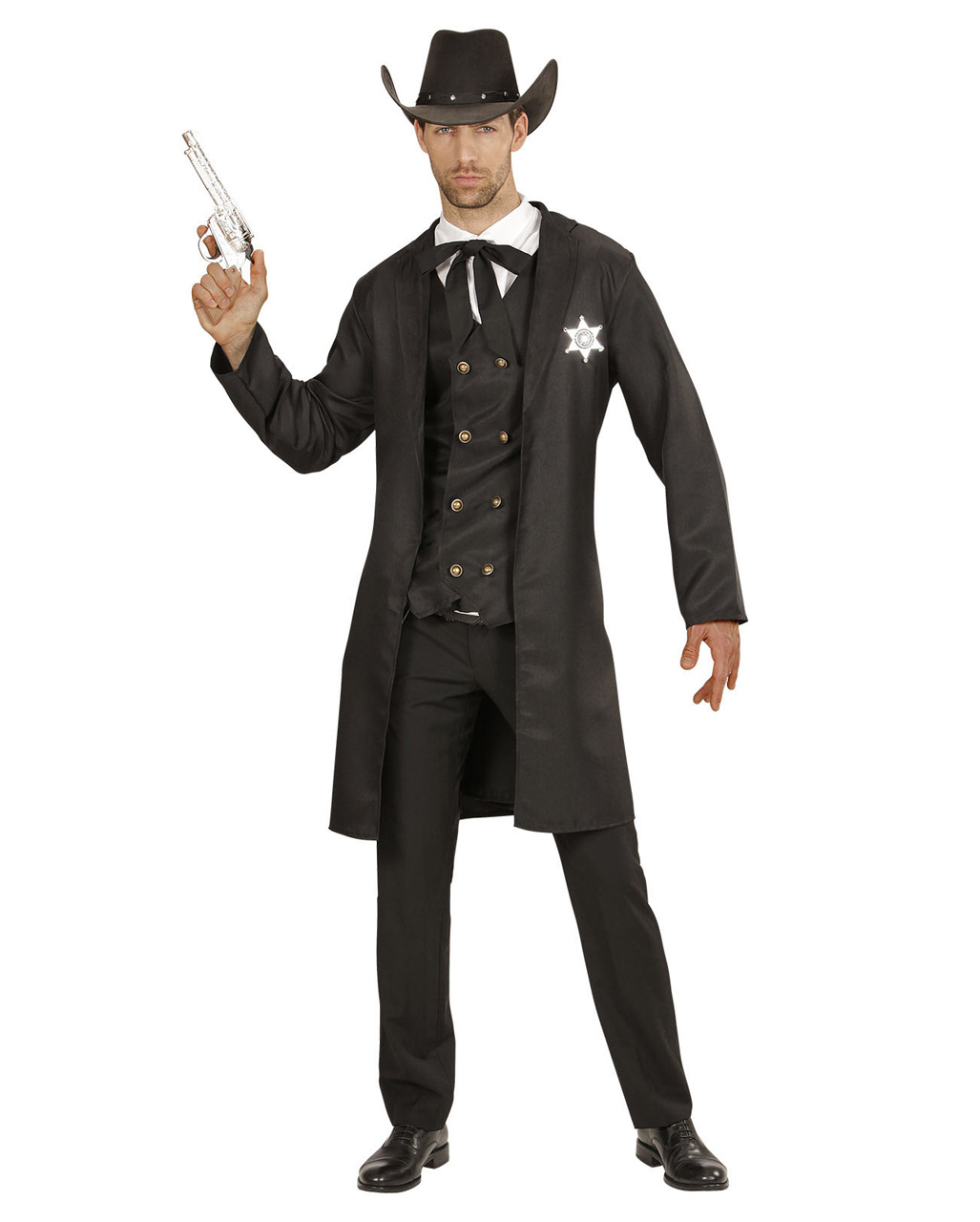 ... Western Sheriff Costume 4 Pieces  sc 1 st  Horror-Shop.com & Western Sheriff Costume 4 Pieces Herrenkostüm | horror-shop.com