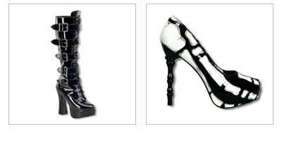 Gothic Schuhe & Plateau Stiefel