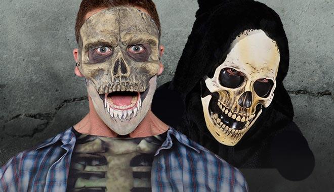 Skelett Masken