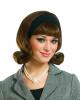 50s Perücke Brünette mit Haarband