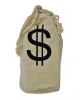 Bank Robber Money Bag Of Linen