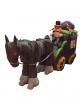 Aufblasbare Halloween Kutsche mit Kürbis Reiter