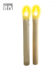 LED Candles Set Beige