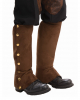 Brown Steampunk Boot Swabs With Buttons