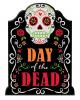 Day of the Dead Schild mit Glitter-Schrift