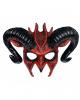 Diabolische Teufels Maske mit Hörner