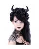 Evil Queen Gothic Kopfschmuck mit Hörner