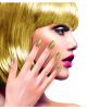 Glitter Fingernails Gold 12 Pcs.
