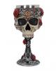 Gothic Totenkopfkelch mit Rosen
