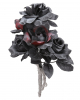 Halloween Bridal Bouquet With Black & Red Roses