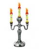 Candlestick With Skulls & Bats
